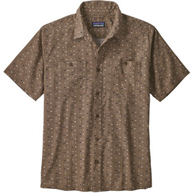 Patagonia Back Step Fietsshirt Korte Mouwen Heren, tiger micro/burnie brown